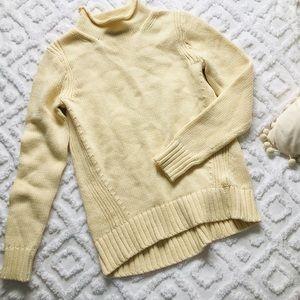 J. Crew Always 1988 Roll Neck Cream Sweater